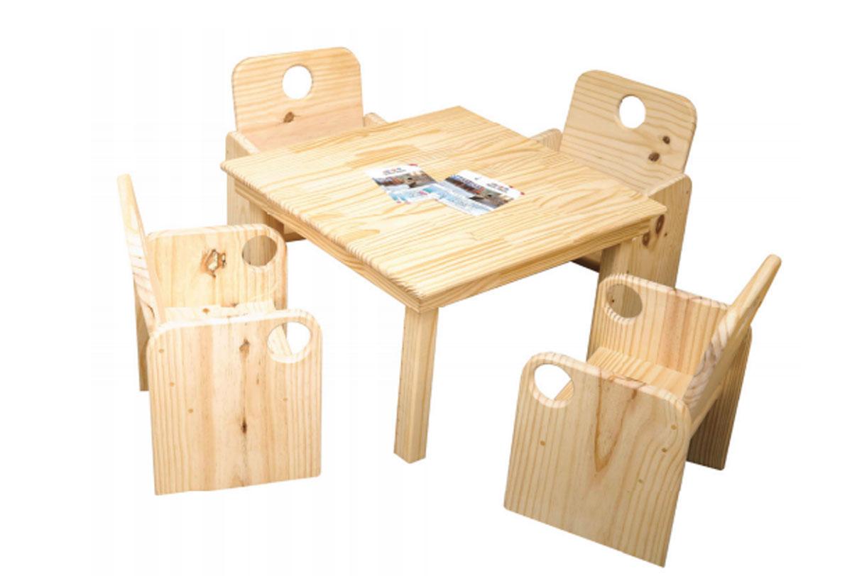 Mesa Quadrada com 4 Cadeiras Primeiríssima