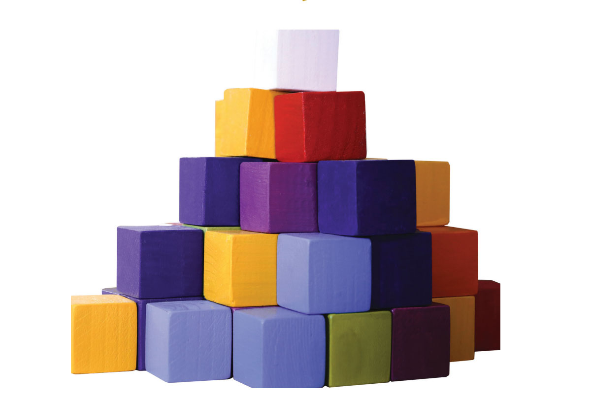 Cubos Waldorf Coloridos - 56 Cubos